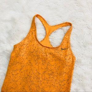 Nike graphic orange tank top